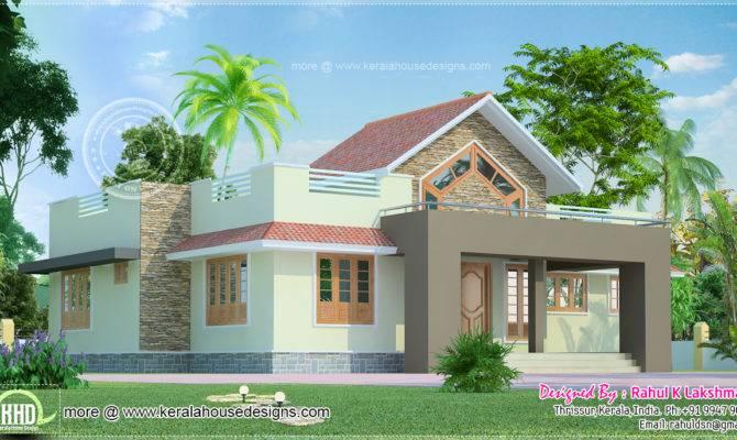 Yard House Exterior Designed Rahul Lakshmanan Thrissur Kerala