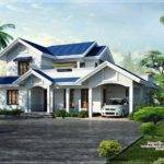 Yards Bhk Blue Roof Villa Designed Green Homes Thiruvalla Kerala