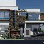 Yards House Plan Front Elevation Design Tulip Corner Plot