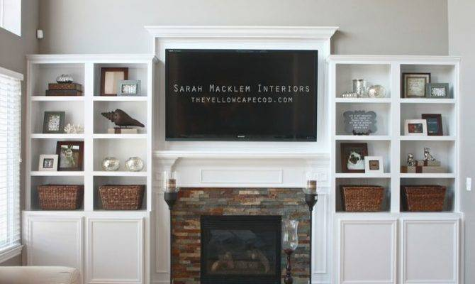 Yellow Cape Cod Fireplace Bookcase Love Except Big Ole