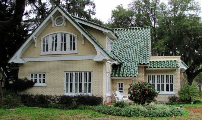 Zspmed House Color Schemes Exterior Green Roof Home Plans Blueprints 99651